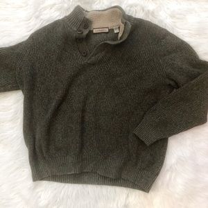 GH Bass And Co  1/4 Button Up Sweater